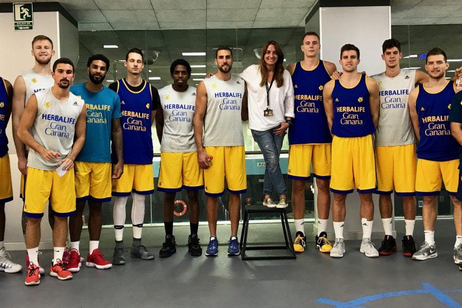 El equipo Club Baloncesto Herbalife de Gran Canaria Entrena con nosotros