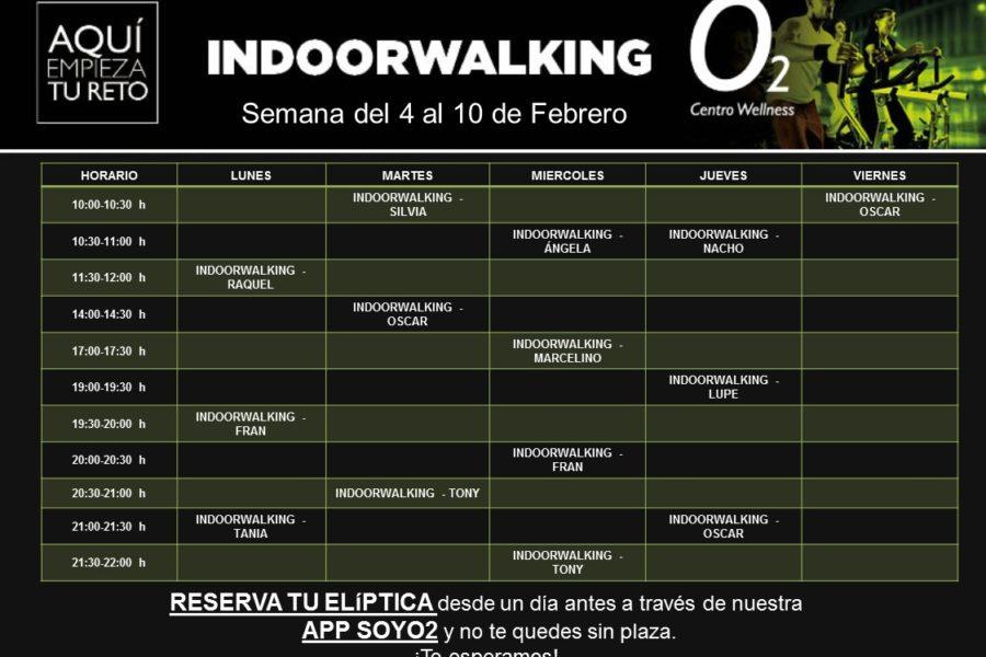 Planificación de Clases de Indoor Walking del 04 al 10 de Febrero- 2019