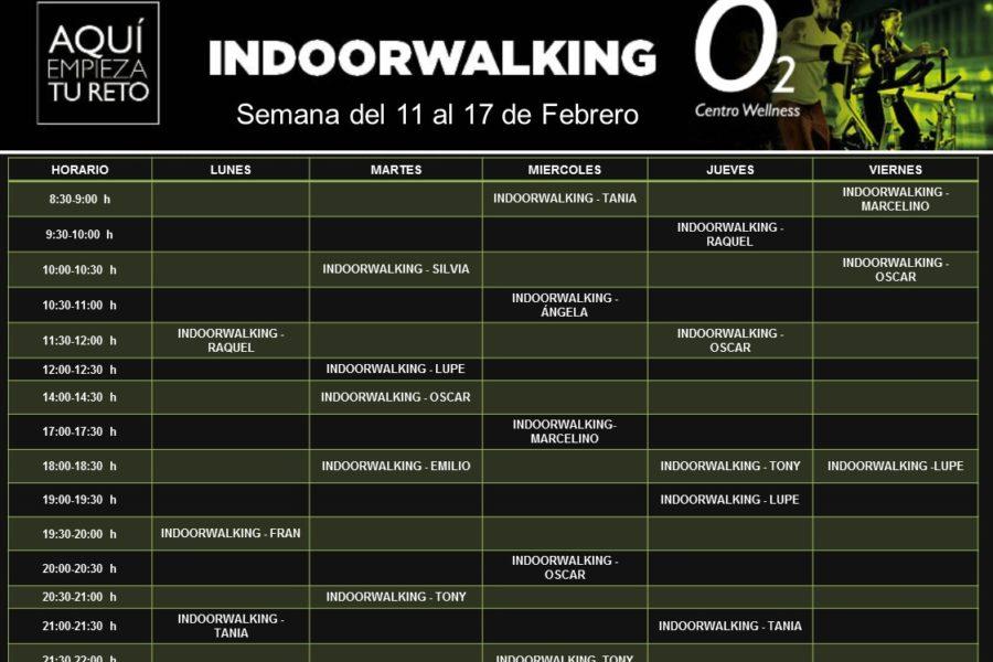 Planificación de Clases de Indoor Walking del 11 al 17 de Febrero- 2019