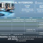 Planificación de Clases de O2 Water del 04 al 10 de Febrero